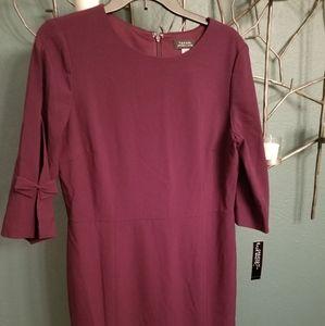 Taheri deep purple dress size 12 new with tags